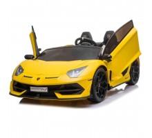 Детский электромобиль Lamborghini Aventador SVJ Yellow Carbon (дрифт, 15 км/ч, 24V) - SX2028S-YELLOW