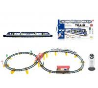 Железная дорога с пультом управления (поезд Синий Экспресс, длина 397 см, свет, звук) - 2807Y-1