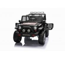 Детский электромобиль джип XMX с полным приводом (черный, EVA, 12V) - XMX618-4WD-BLACK