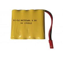Аккумулятор Ni-Cd 4.8V 700 mAh (разъем JST) - NICD-48F-700-JST