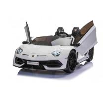 Детский электромобиль Lamborghini Aventador SVJ White Carbon (дрифт, 15 км/ч, 24V) - SX2028S-WHITE